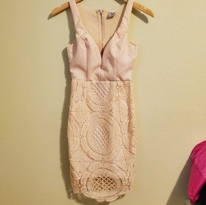 Cream fitted dress